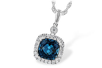 A244-19368: NECK 1.63 LONDON BLUE TOPAZ 1.80 TGW