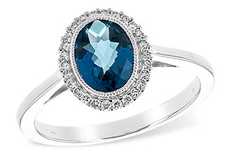 B244-19386: LDS RG 1.27 LONDON BLUE TOPAZ 1.42 TGW