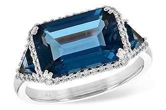 B245-11222: LDS RG 4.60 TW LONDON BLUE TOPAZ 4.82 TGW