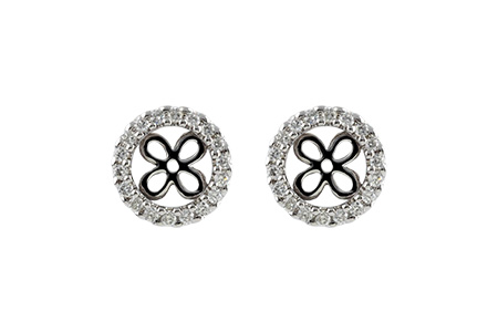 C242-40295: EARRING JACKETS .30 TW (FOR 1.50-2.00 CT TW STUDS)