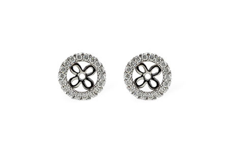 D242-40286: EARRING JACKETS .24 TW (FOR 0.75-1.00 CT TW STUDS)