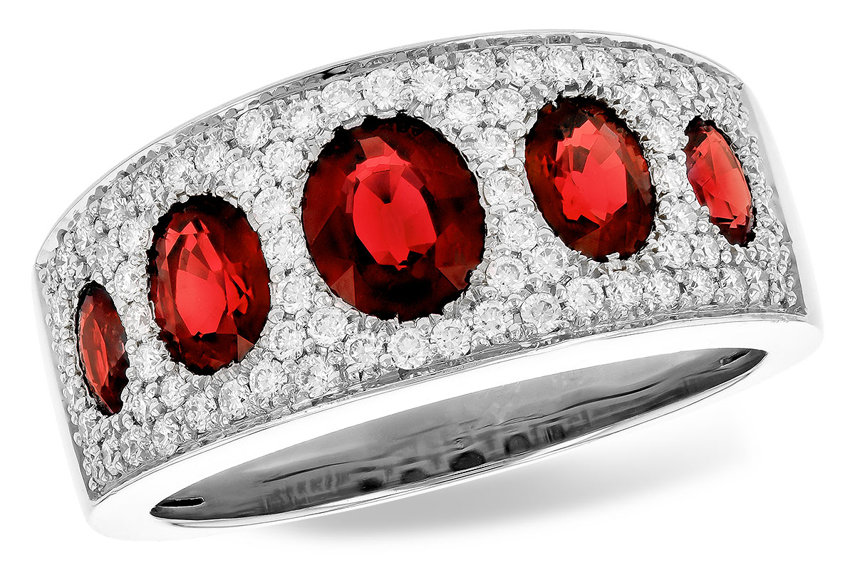 D327-85749: LDS WED RG 1.60 TW RUBY 2.00 TGW