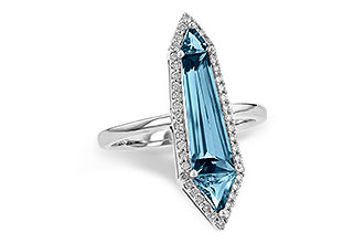 F245-10313: LDS RG 2.20 LONDON BLUE TOPAZ 2.41 TGW
