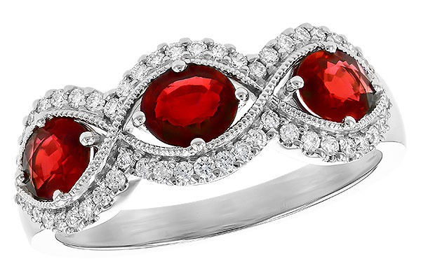 F327-85785: LDS WED RG 1.10 TW RUBY 1.35 TGW