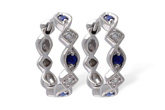 G056-00276: EARRINGS .20 SAPP .25 TGW