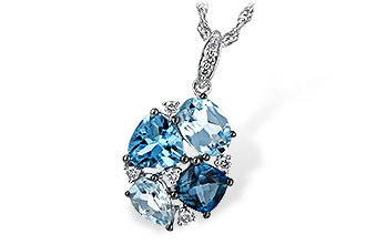 K244-19367: NECK 2.60 BLUE TOPAZ 2.70 TGW