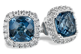 L244-19385: EARR 2.14 LONDON BLUE TOPAZ 2.40 TGW