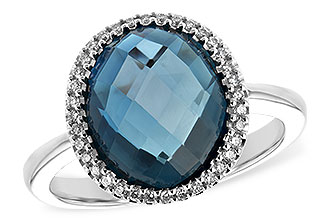 L244-20285: LDS RG 5.31 LONDON BLUE TOPAZ 5.45 TGW