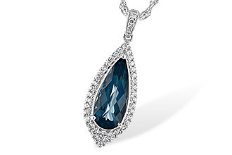 M244-21194: NECK 2.40 LONDON BLUE TOPAZ 2.65 TGW
